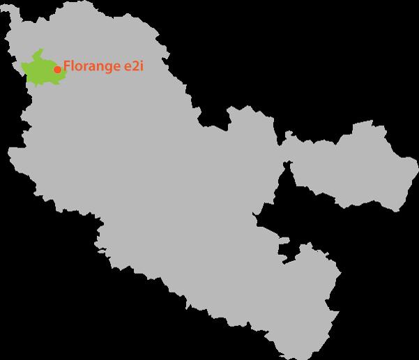 département de la Moselle et positionnement de la Communauté d'agglomération du Val de Fensch